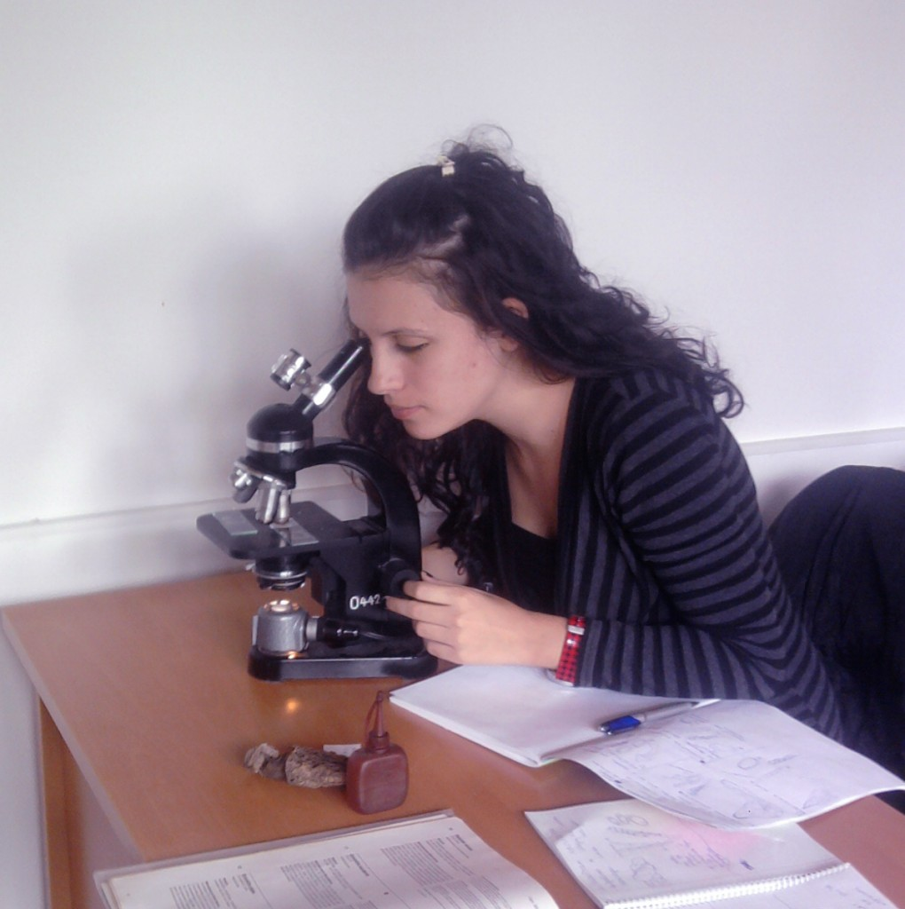 Elena Minova at the laboratory
