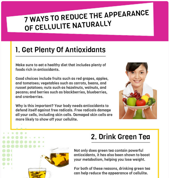 7 Ways to Reduce Cellulite Naturally [Infographic]
