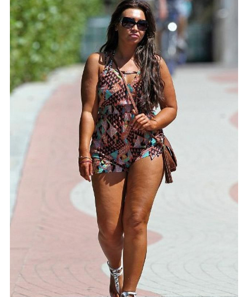 Lauren Goodger cellulite legs