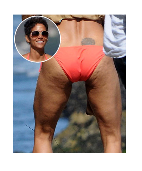 Halle Berry - Hollywood celebrity with cellulite