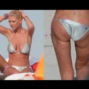 Tara Reid cellulite on thighs